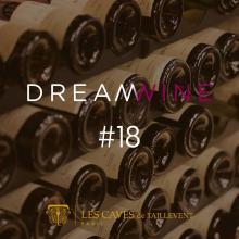 J-7 DREAMWINE #18  Dreamwine c'est le rendez-vous à ne pas manquer. Durant un mois Les Caves de Taillevent vous proposent de découvrir une sélection de vins à maturité, uniquement disponibles sur allocation ! L'occasion pour vous de profiter de vins des plus grands producteurs, avec une offre à -10%  RDV le mardi 21/06 pour découvrir la maison mise à l'honneur. Attention quantités très limitées...